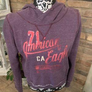 American Eagle purple hoodie.